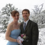 Sedona snowy wedding
