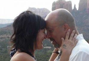 couple holding on a marriage preparation tour in sedona