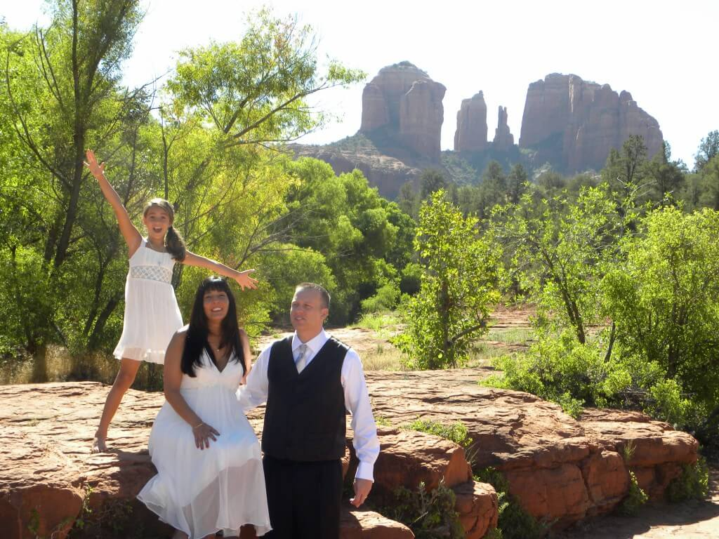 family wedding in Sedona
