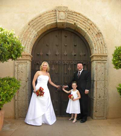 Couple preparing for marriage at a Sedona Destination Wedding Chapel Venue