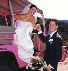 Couple on an adventure sedona wedding package