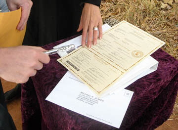 Marriage License The