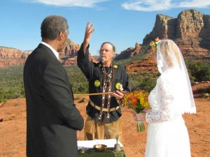 wedding ceremony in Sedona AZ
