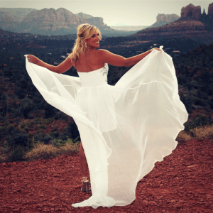 lovers knoll a popular sedona wedding venue hosts an angel bride