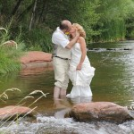 Passionate Creek Kiss In Sedona