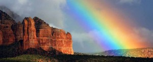 Beautiful rainbow over Sedona