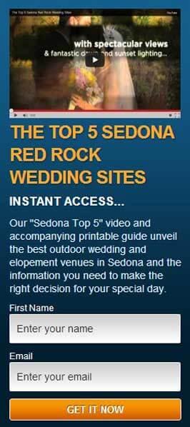 The top 5 red rock Sedona wedding sites