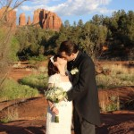 Sedona Wedding Kiss In Red Rock Crossing