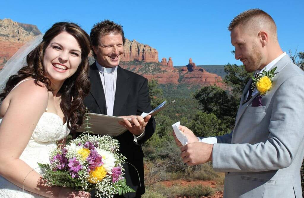 Magic Vista moments in Sedona with a couple being married by a minister