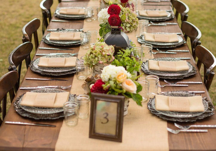 Table settings For Your Fall Wedding