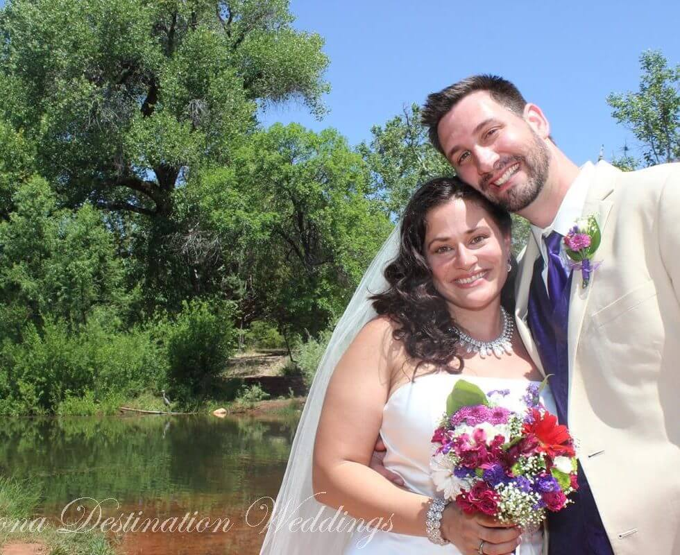 The Sedona Wedding of Natalia and Michael at Red Rock Crossing