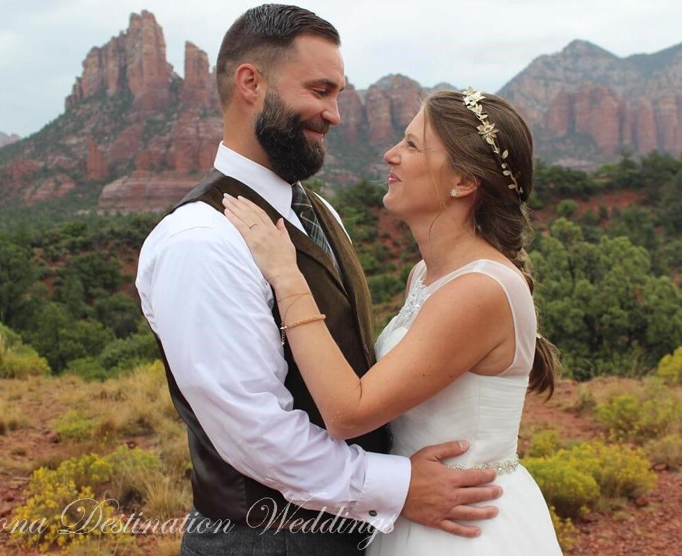 The Sedona Wedding of Jennifer and Michael at Sunset Vista