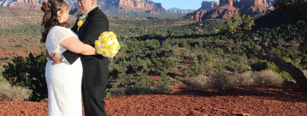 The Sedona Wedding of Florance and Albino at Lover's Knoll
