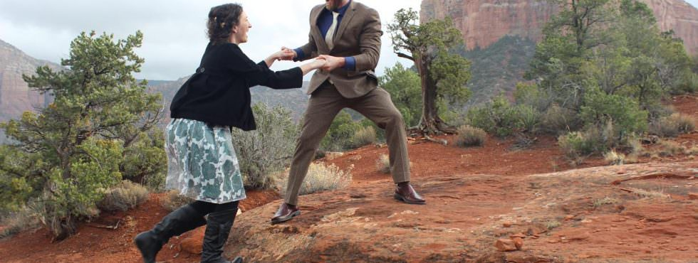 Wedding Ceremony of Christina and Jonathan at Bell Rock in Sedona, Arizona
