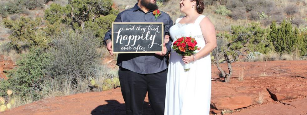 The Sedona Wedding of Jessica and George at Huckaby Hollow