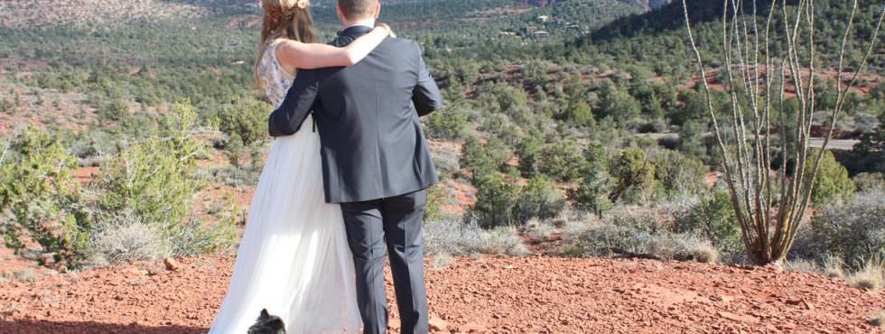 Maighdlin and Jesse Just Got Married at Lover's Knoll, Sedona!