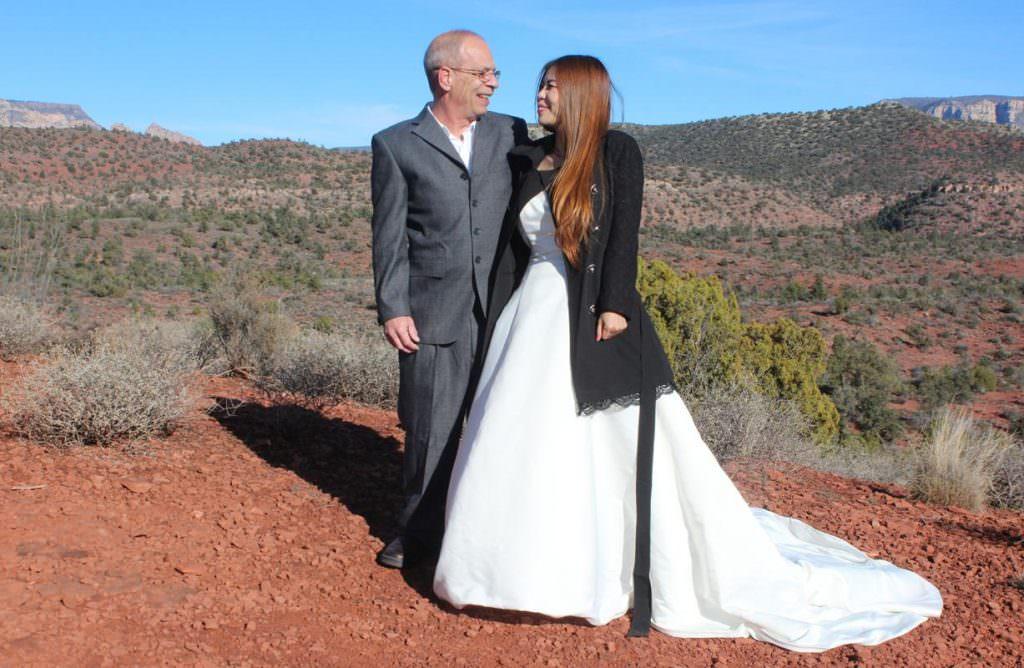 Xiaoling Mark Sedona Wedding