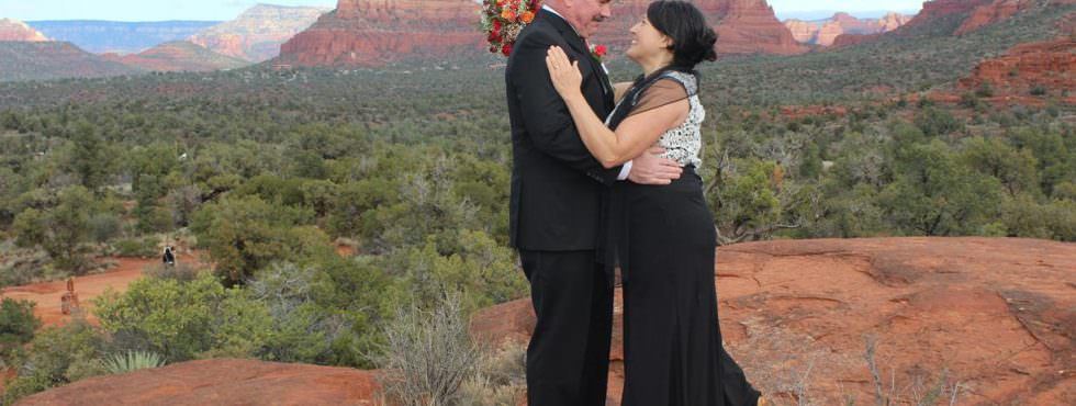 Wedding Ceremony of Kim and Pete at Bell Rock in Sedona