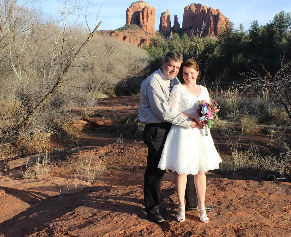 Crystal and Scott Just Got Married at Red Rock Crossing, Sedona!