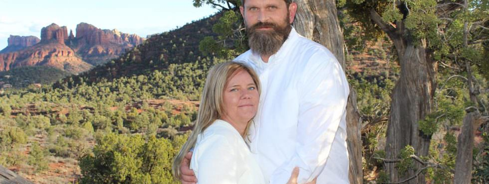 Wedding Ceremony of Wendi and Daniel at Lover's Knoll in Sedona