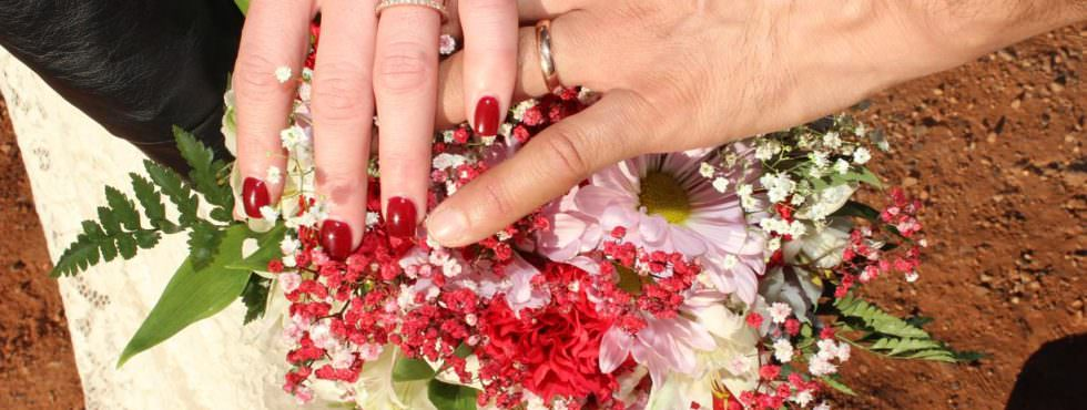 Congratulations to Melissa and Jose! Wedding Ceremony in Huckaby Hollow