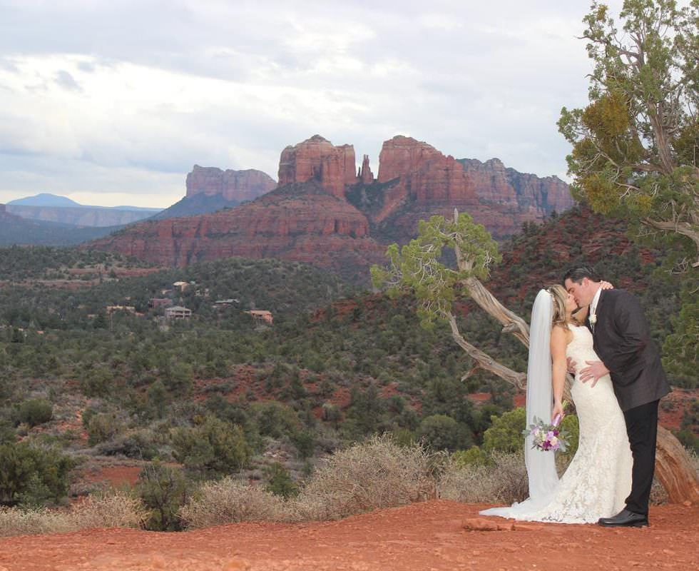 Michelle and Jason Just Got Married at Lover's Knoll, Sedona!