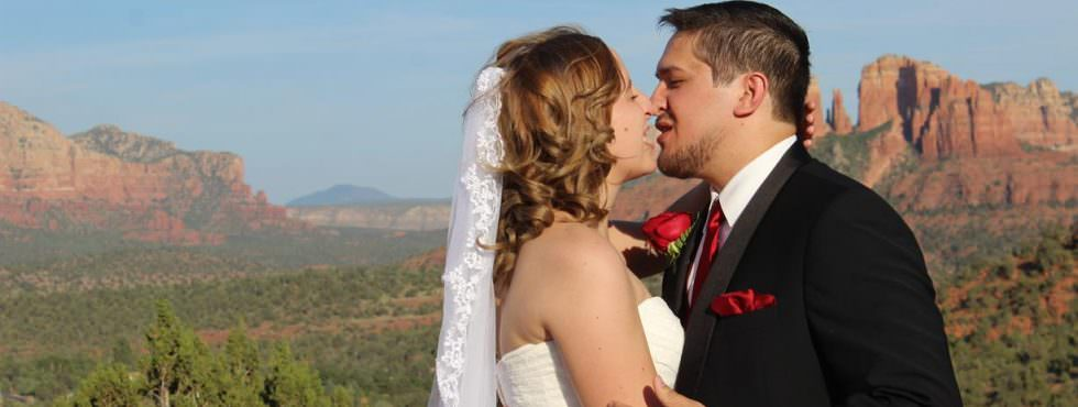 Emily and Trevor Just Got Married at Lover's Knoll, Sedona!