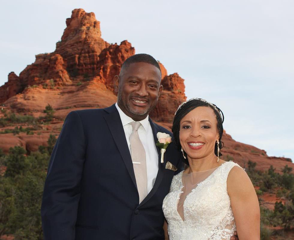 The Sedona Wedding of Kimberly and Derrick at Bell Rock