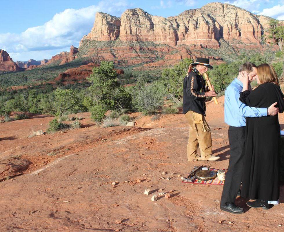 The Sedona Wedding of Natalie and John at Bell Rock