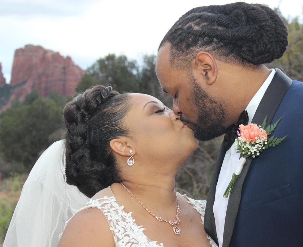 The Sedona Wedding of Destiny and LeHenry at Red Rock Crossing