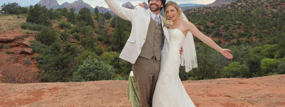 The Sedona Wedding of Kate and Robert at Huckaby Hollow