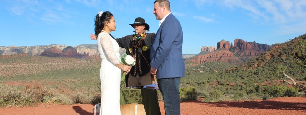Kevin and Josephine's Sedona Wedding at Lover's Knoll
