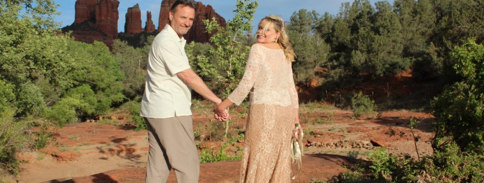 Melinda & Kevin's Sedona Wedding Elopement at Red Rock Crossing.