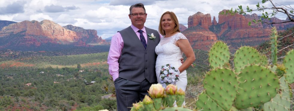 Sharon and Robert's Sedona Vow Renewal at Lover's Knoll