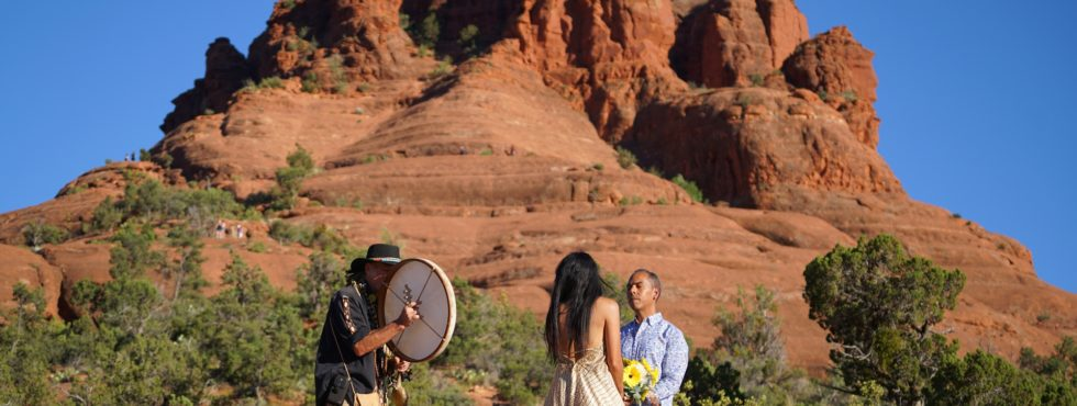 Gilbert and Fabricia's Sedona Shamanic Wedding at Bell Rock